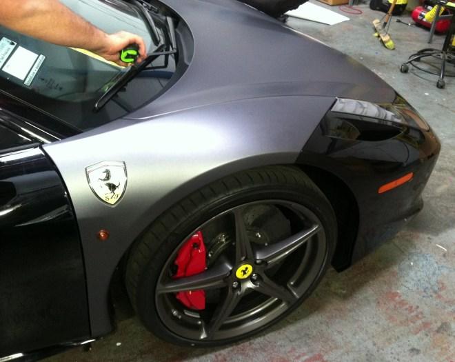 Ferrari Matte Grey Wrap-03