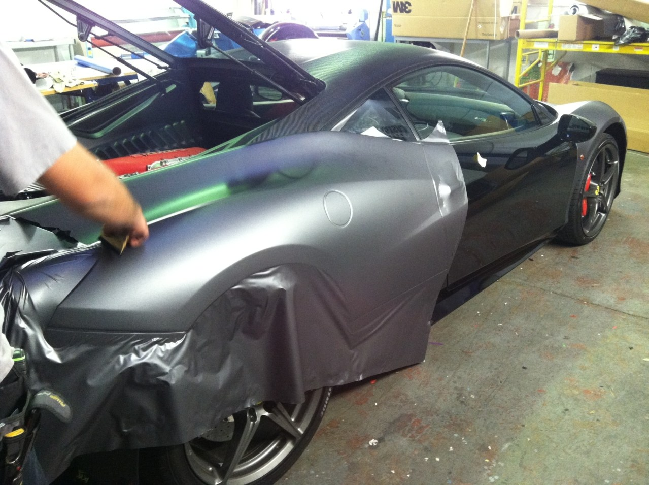 Ferrari Matte Grey Wrap-15