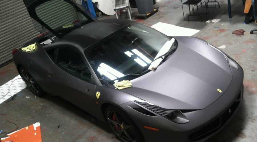 Matte Grey Ferrari Wrap