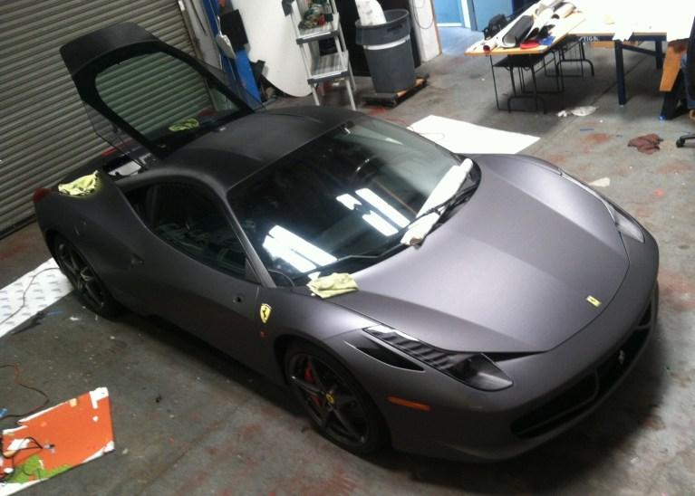 Ferrari Matte Grey Wrap-19