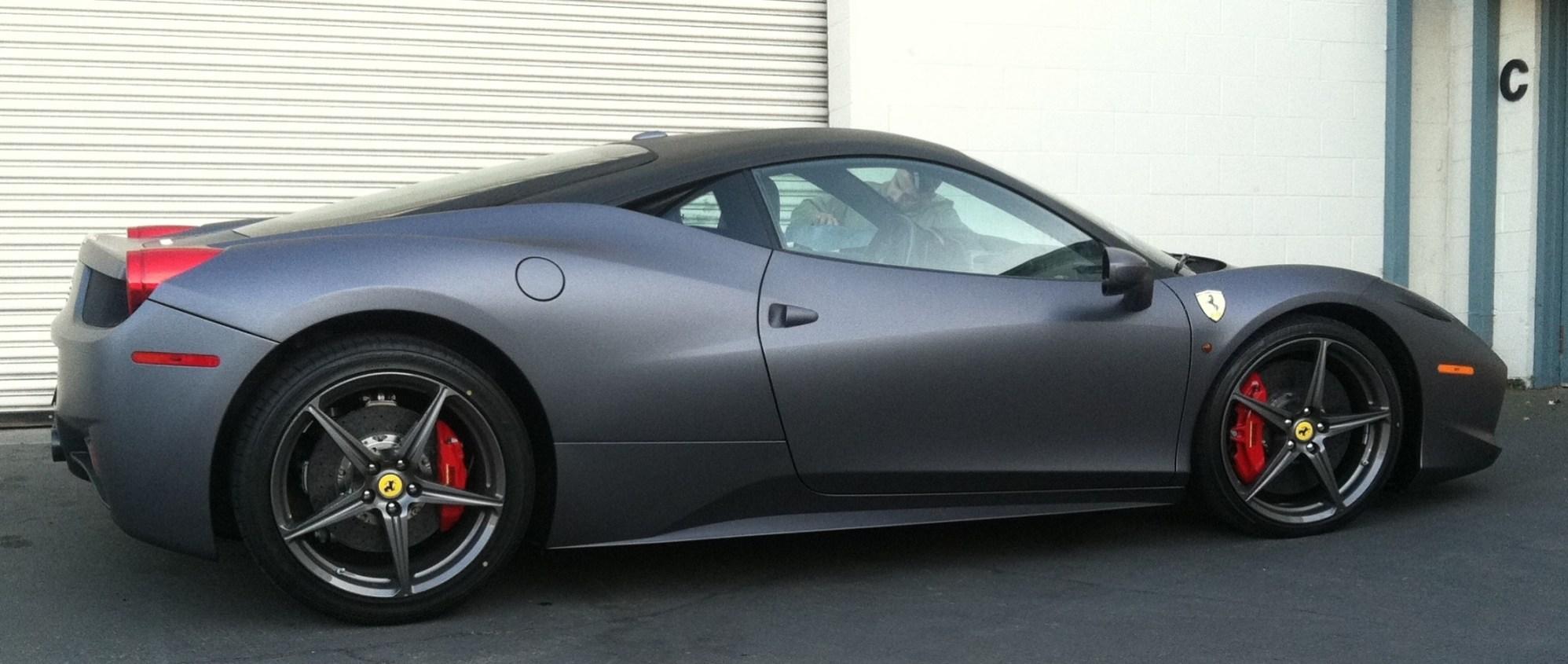 Ferrari Matte Grey Wrap-27