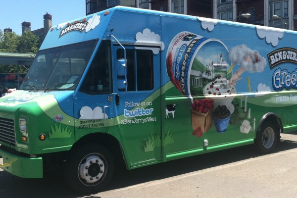 Ben and Jerry's Food Truck Wrap