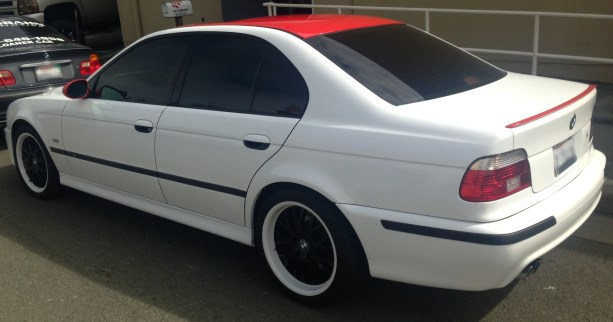 bmw white red roof color change-03
