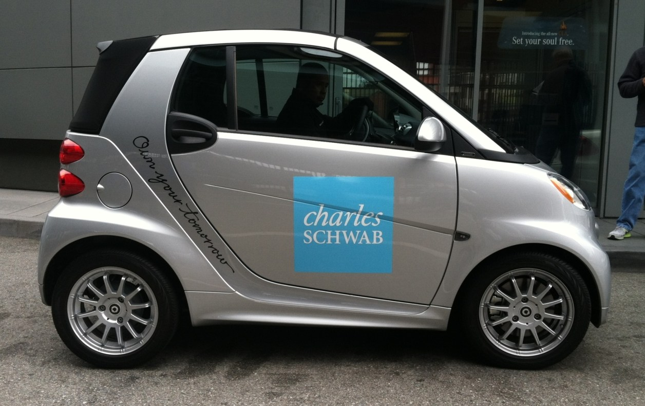 charles schwab smart car wrap