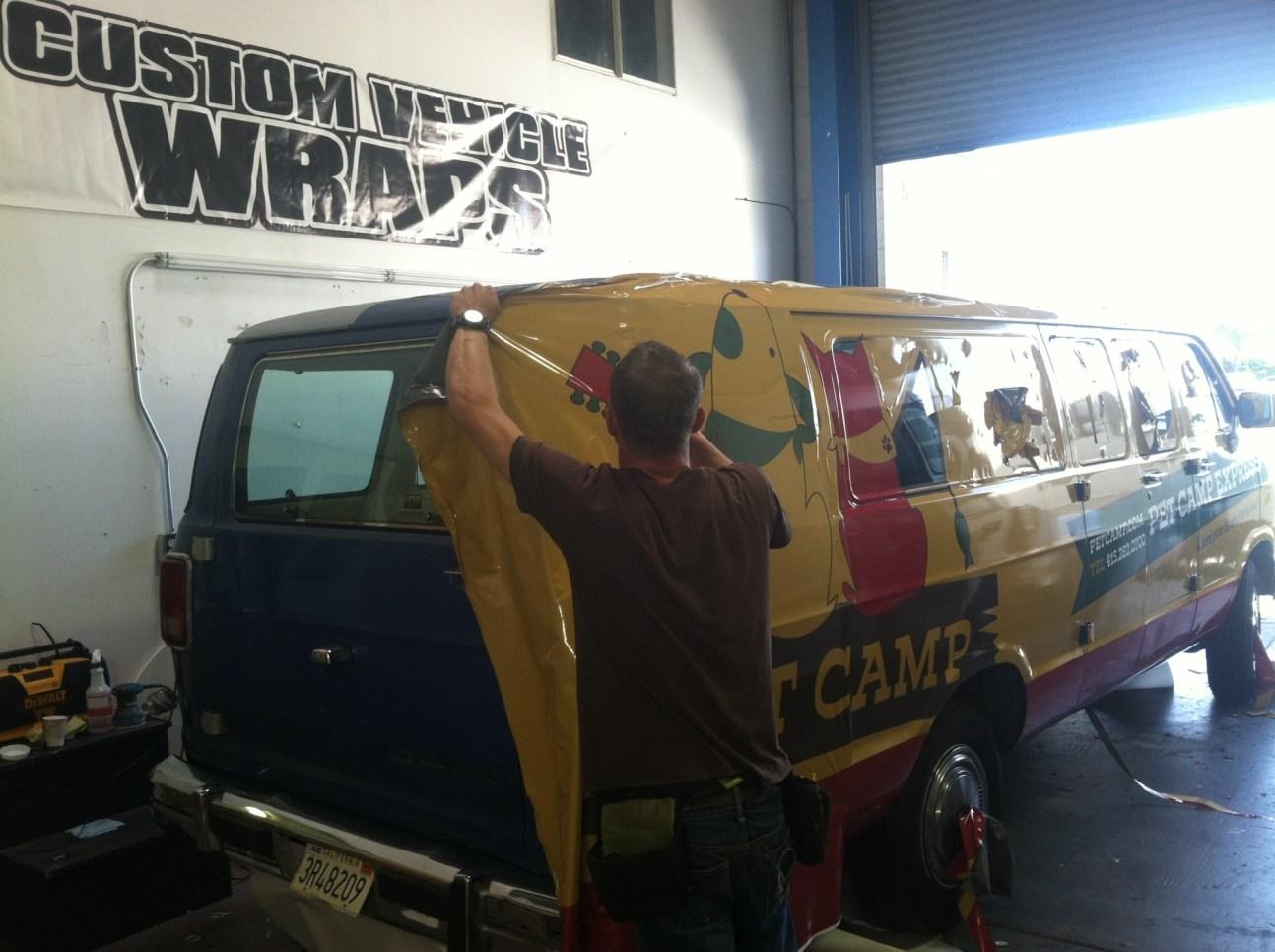 petcamp van wrap
