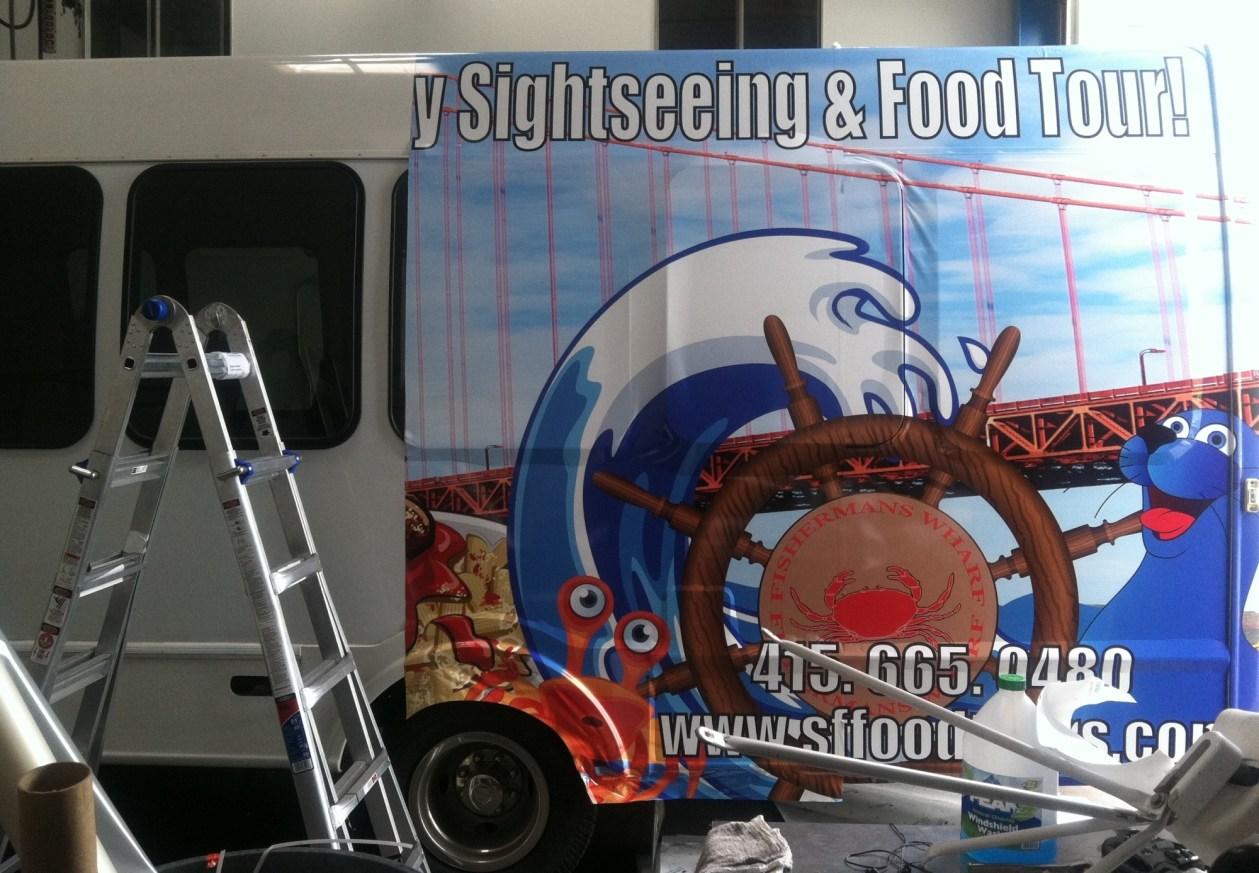 sffoodtours bus wrap