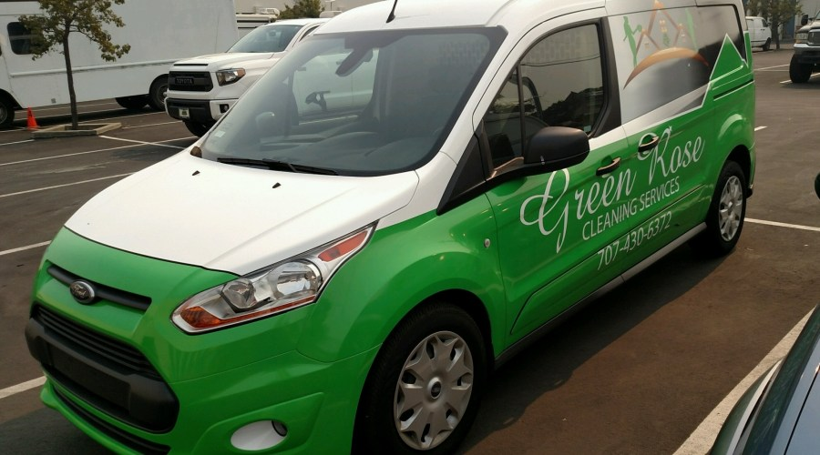 Green Rose Cleaning Services Van Wrap