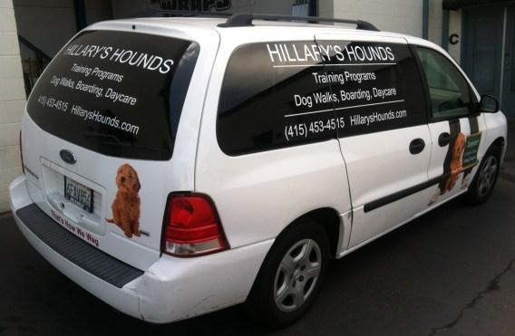 hillarys hounds van wrap
