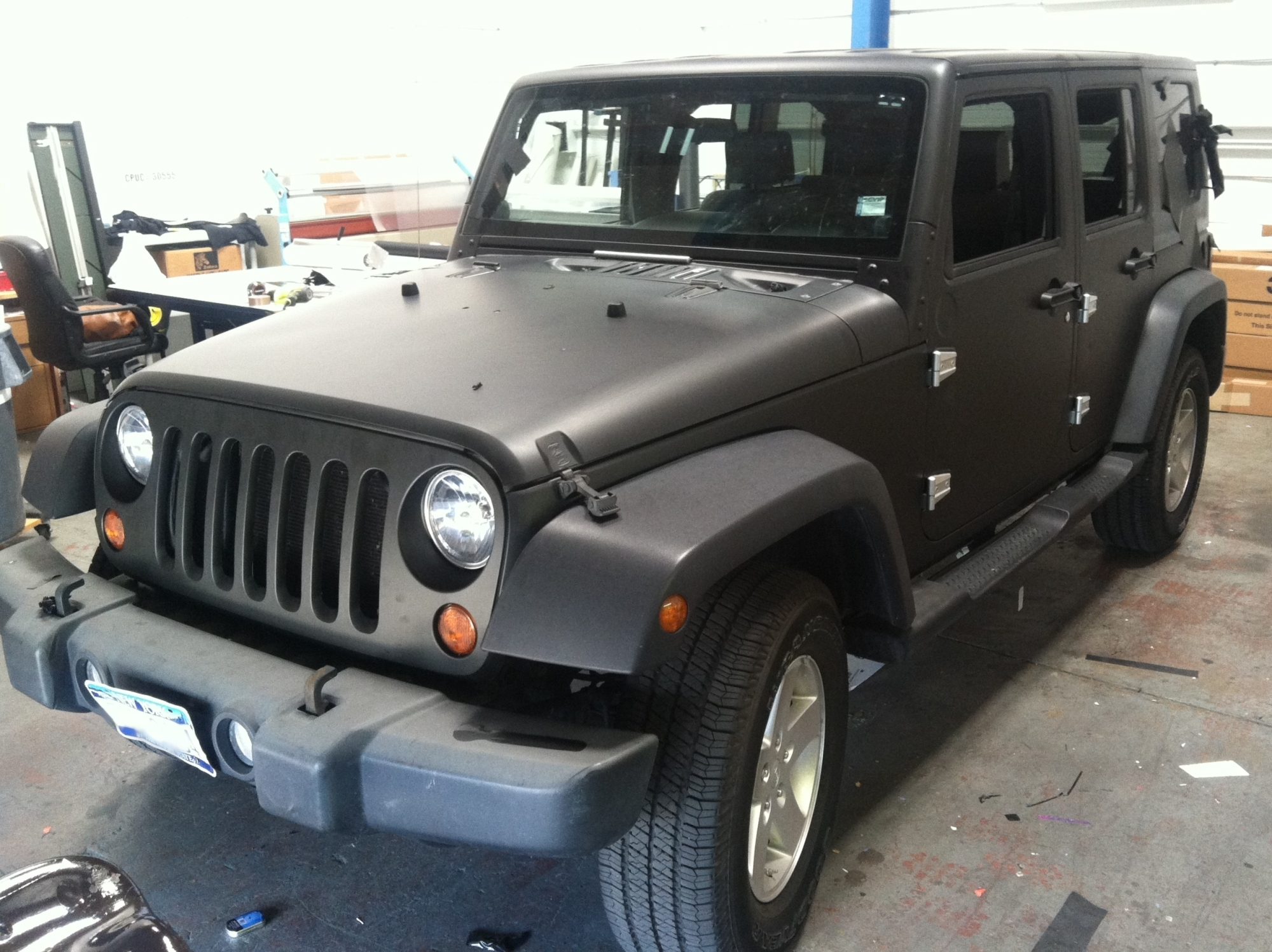 matte black jeep wrap 10 – Custom Vehicle Wraps