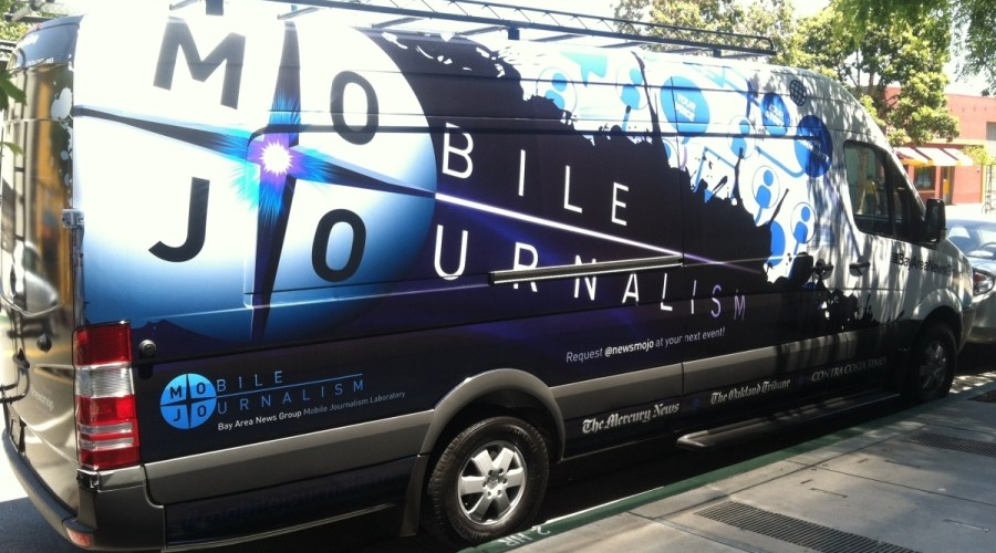 Mobile Journalism Lab Van Wrap