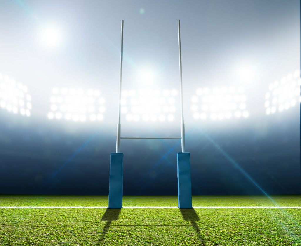 Rugby Stadium And Posts Custom Wallpaper