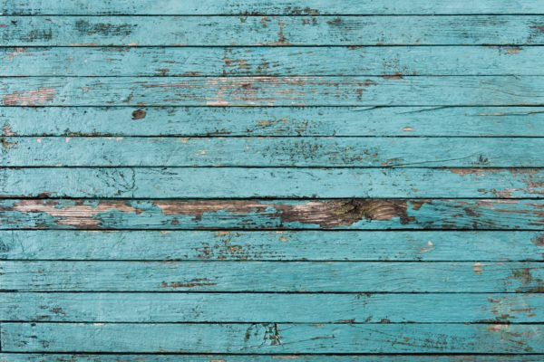 old painted blue boards