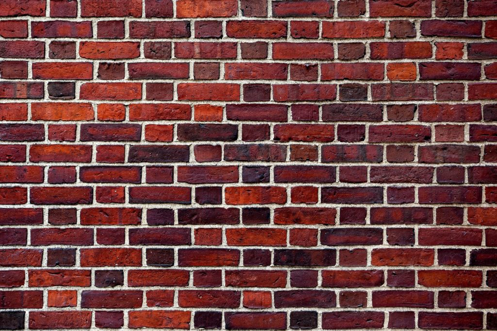 The Old Red Brick Wall Custom Wallpaper