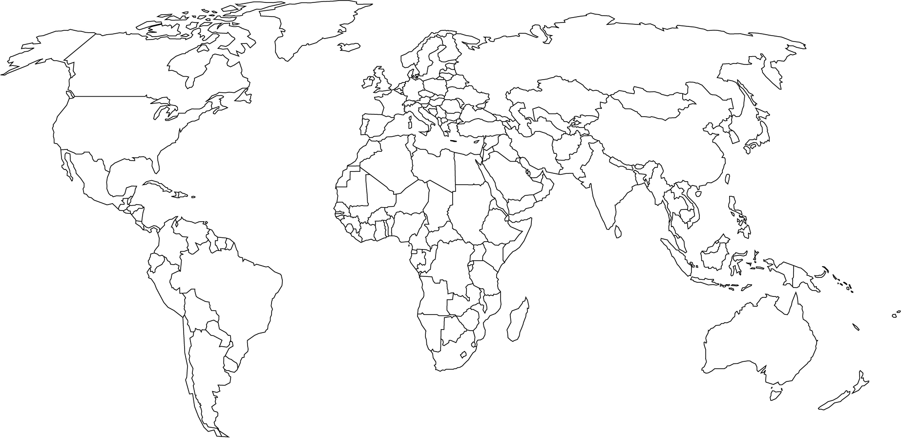 World Map Colour In Colouring In
