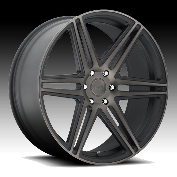 Dub Skillz S123 Machined Black DDT Custom Wheels Rims