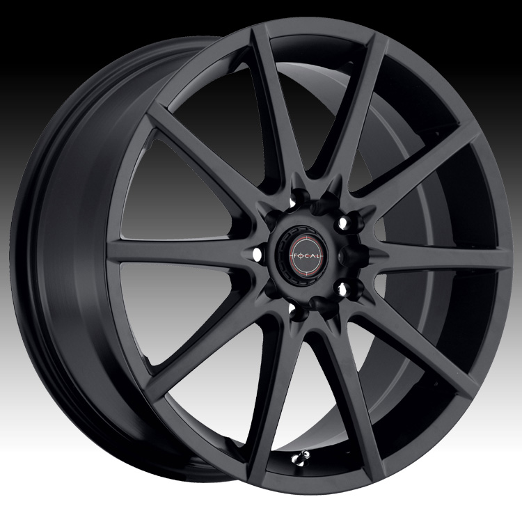 Focal 428SB F04 Satin Black Custom Wheels Rims  F04