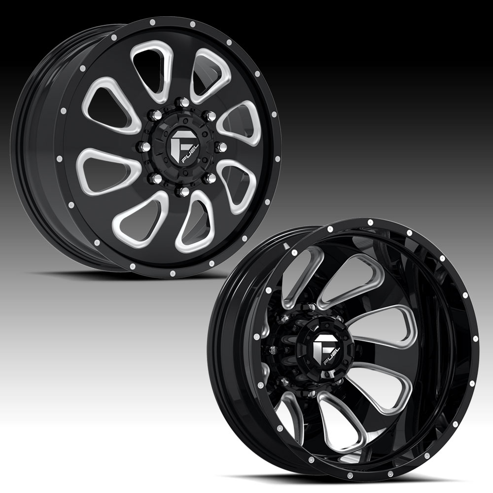 Fuel Flow D269 2pc Dually Custom Finish Custom Wheels Rims