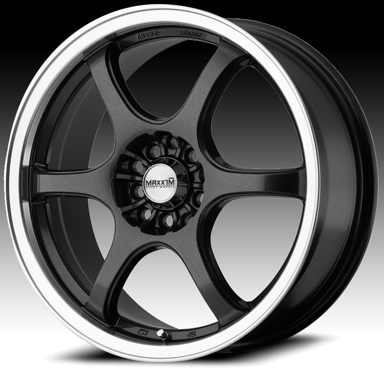 Maxxim SE10 S2 Graphite with Machined Lip Custom Wheels
