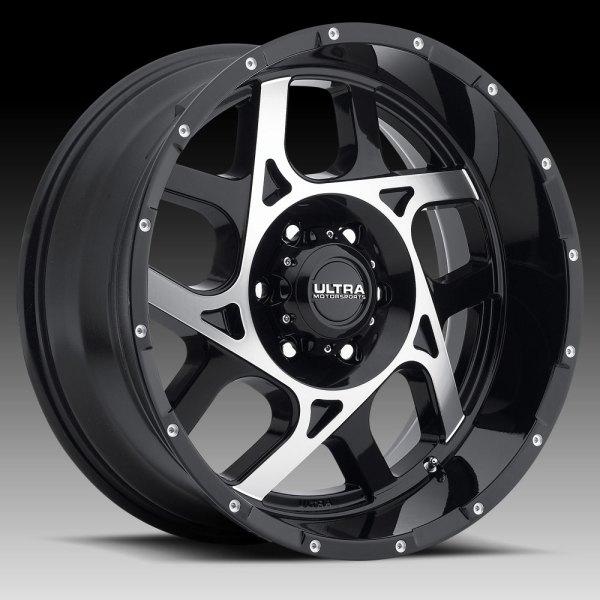Ultra 250 Colossus Gloss Black Machined Custom Wheels Rims