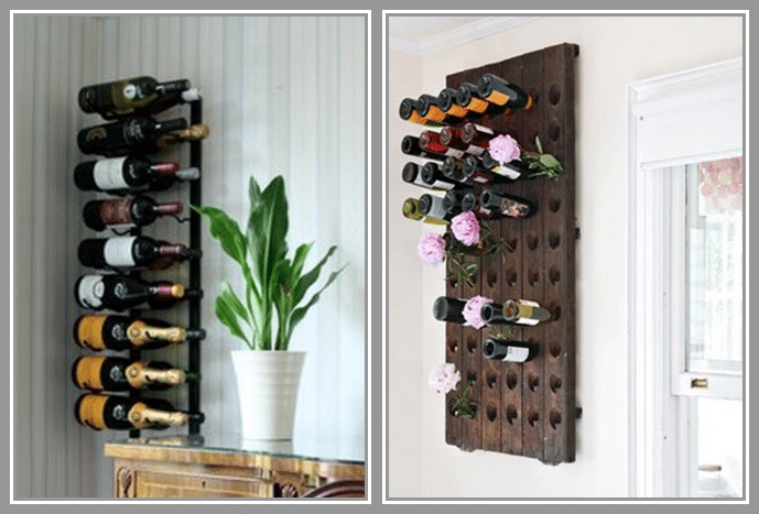 pros and cons of wall mounted wine racks
