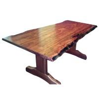 One piece natural edge Jarrah Dining Table | Custom Wood ...