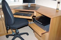 Home office corner desk - made to measure office furniture
