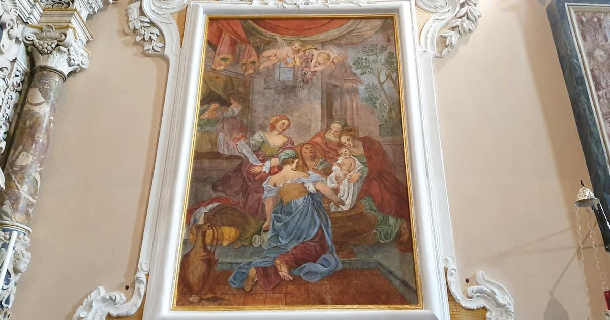 Custonaci. Inaugurato dopo il restauro l'affresco della natività di Maria all'interno del Santuario