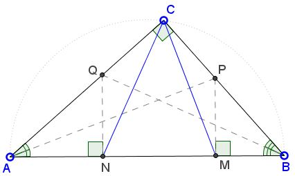 Acute Angle Bisectors in a Right Triangle