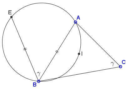 Properties of Circle Through the Incenter