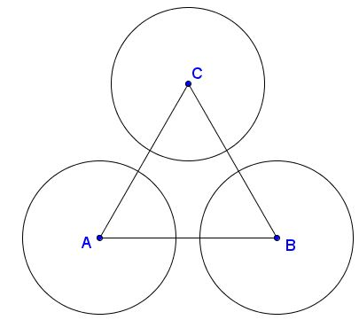 Lines Crossing Circles at Vertices of Equilateral Triangle