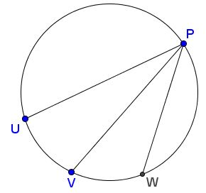 Constant Ratio on Circle