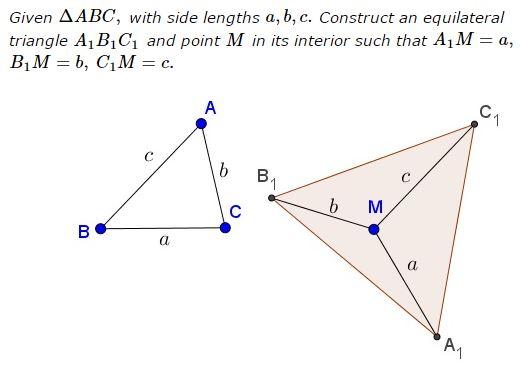 Converse Construction in Pompeiu's Theorem