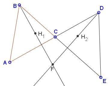 Proportions with Two Orthocenters