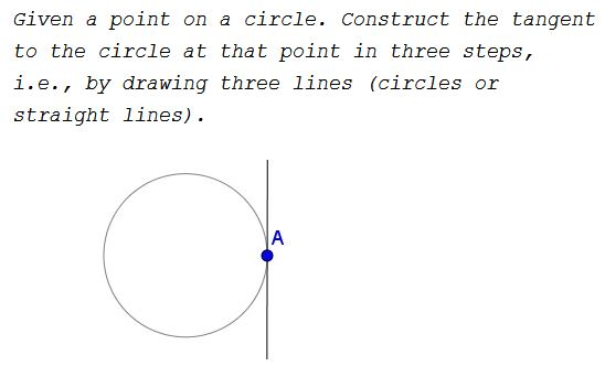 Tangent to Circle in Three Steps