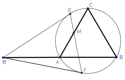 Seven Problems in Equilateral Triangle, Solution to Problem 1