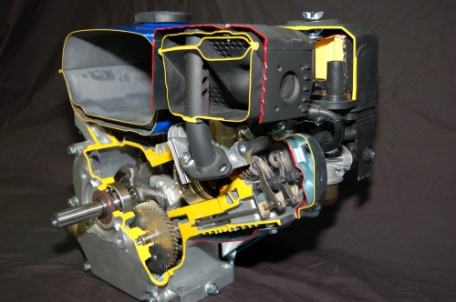 6.5hp Overhead Valve Engine Cutaway