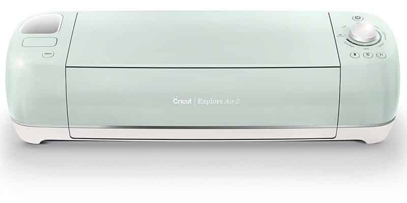 A mint green Cricut Explore Air 2