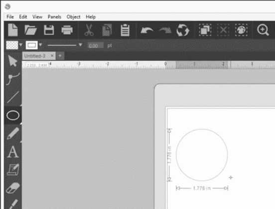 Drawing a circle in Silhouette Studio