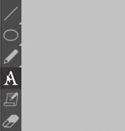 Selecting the text tool