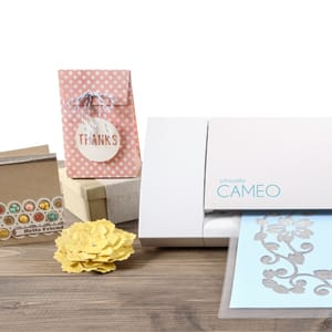 a selection of crafts made with the Cameo 3