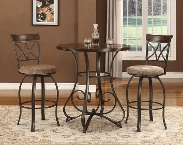 small high top kitchen table wrought iron 6 beautiful and elegant pub sets of 3 - cute furniture