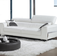 6 White Leather Sofas For Every Modern Living Room - Cute ...