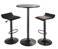 6 Contemporary Black Pub Table Sets - Cute Furniture