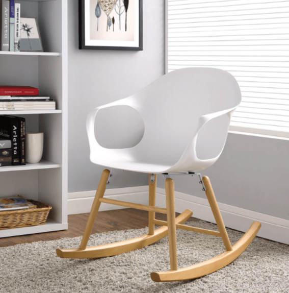 affordable rocking chairs squirrel chair feeder 7 white indoor modern - cute furniture