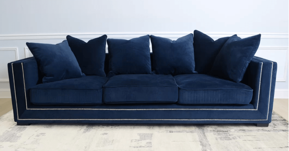 navy blue velvet sofa cream leather corner with recliner top 8 sofas for glamorous home cute furniture pasargad cooper