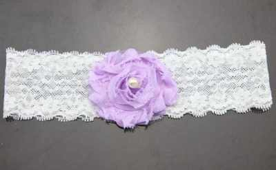 lilac lace baby headband for babies