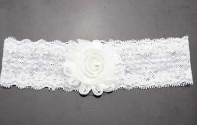 white lace baby headband for babies