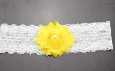 yellow lace baby headband for babies