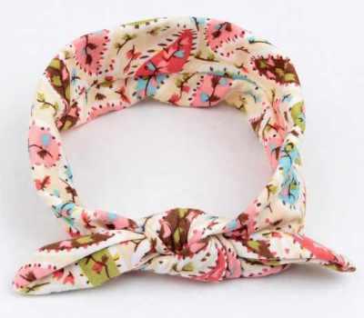 cream headband top knot