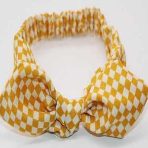 yellow babies top knot headband